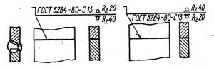Обозначение шва стыкового соединения