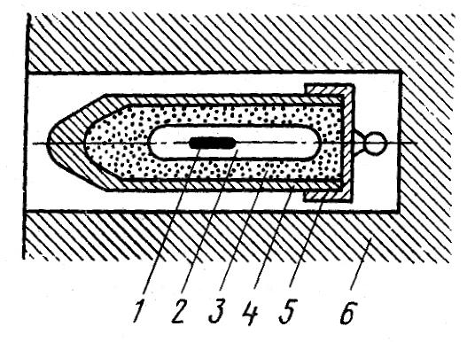 Схема устройства ампулы с радиоактивным веществом