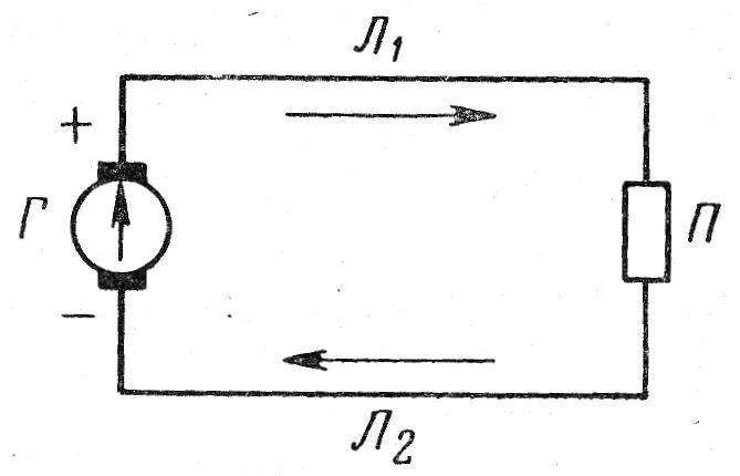 Схема простейшей электрической